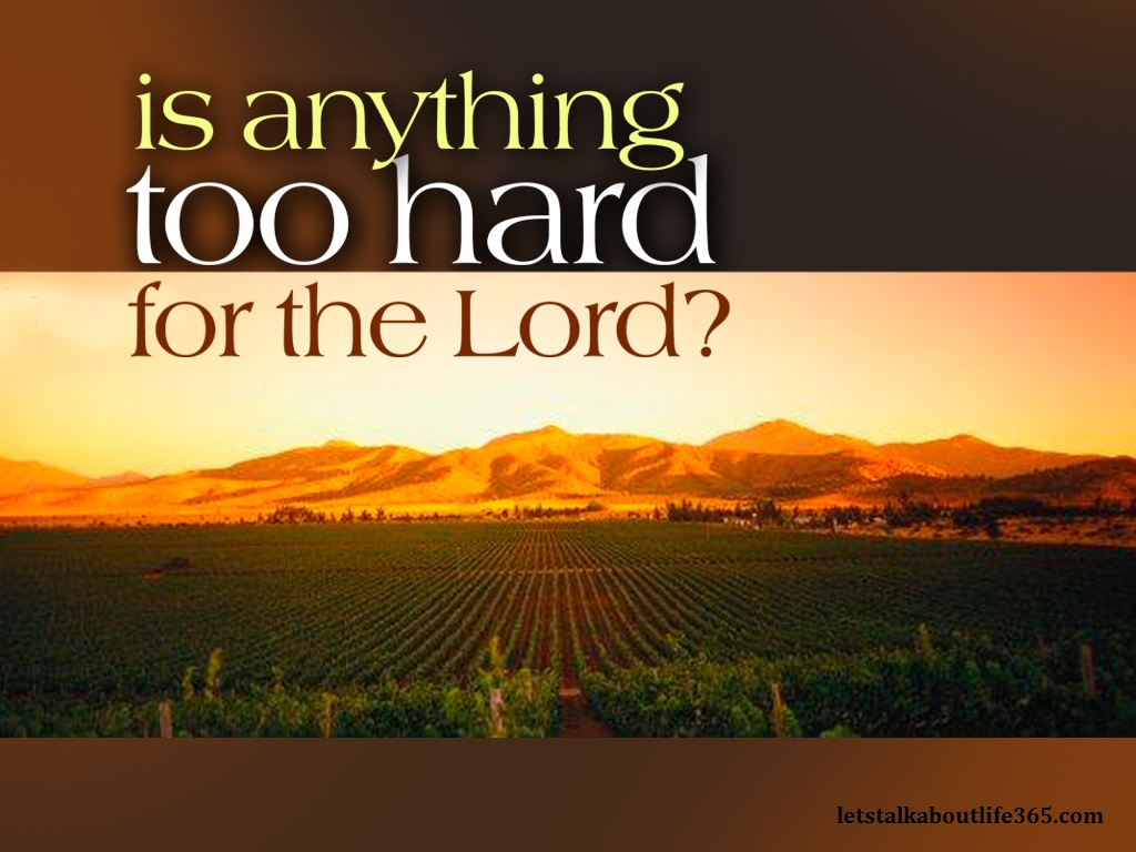 Is There Anything Too Hard For God Nicole L Ross